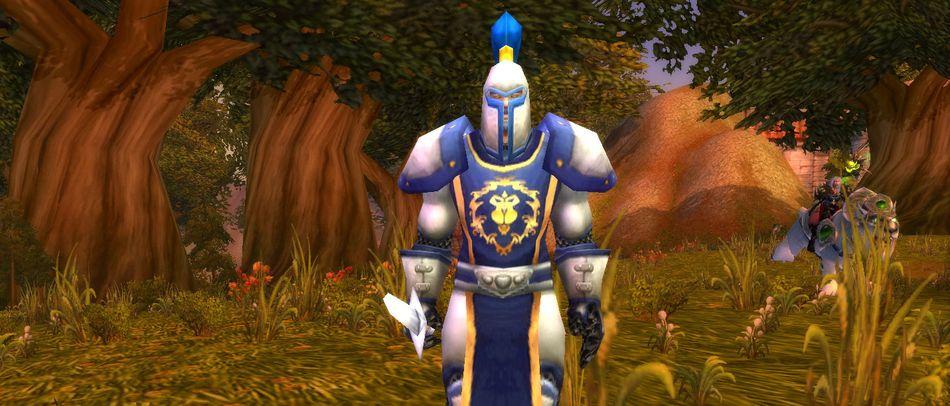 NPC-человек из стартовой локации. World of Warcraft