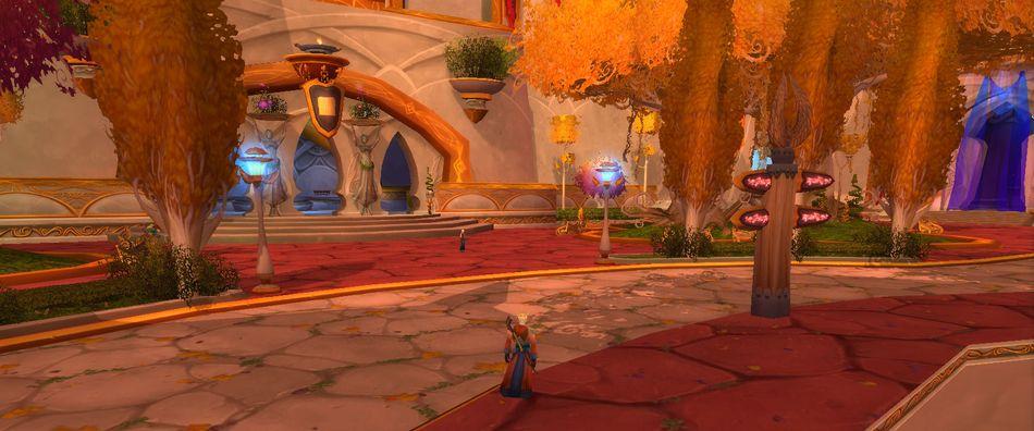 Улица в Луносвете. World of Warcraft
