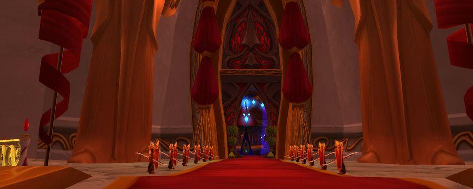 Дворец Солнца в Луносвете. World of Warcraft
