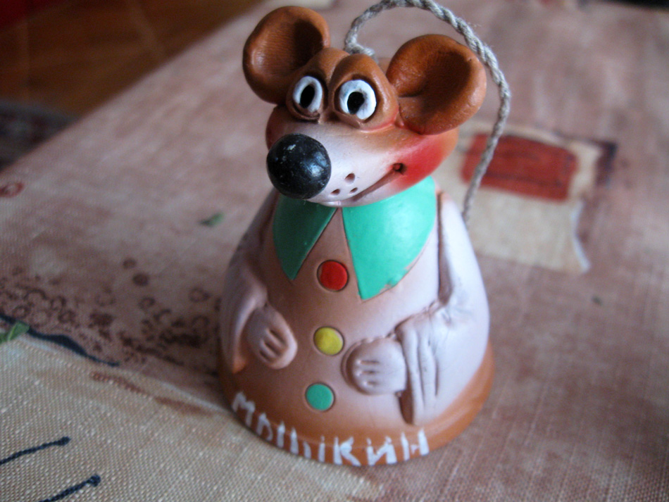 Handbell: mouse from mouse town