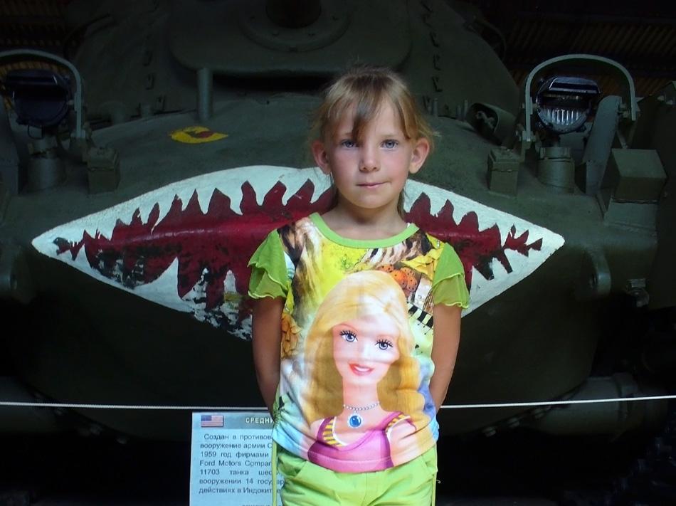 Girl eaten by tank