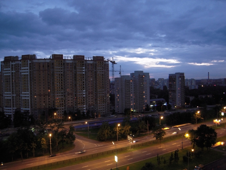 Night Moscow under the sky