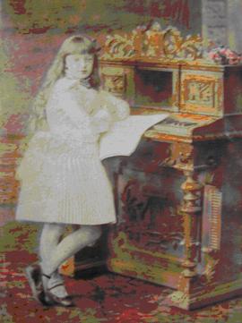 Лиззи в возрасте десяти лет